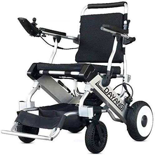 Silla de Ruedas eléctrica Plegable, Prima de Energía Eléctrica silla de ruedas, ligero, portátil, plegable silla de ruedas motorizada, for trabajo pesado, compacto plegable de la energía de ru