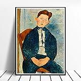 Amedeo Modigliani Pintura Impresión Lienzo Sala de Estar Habitación Expresionismo Amedeo Modigliani Póster Pared Decoracion Pasillo Pared Arte Cuadro Decoracion 50x70cm Sin Marco