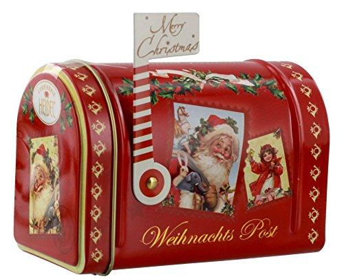 Confiserie Heidel Merry Christmas Weihnachts post / Mini Cassetta delle Lettere Buon Natale Mailbox Nostalgia con all'Interno Cioccolatini in Cioccolato al Latte di Alta Qualità - 1 x 95 Gram