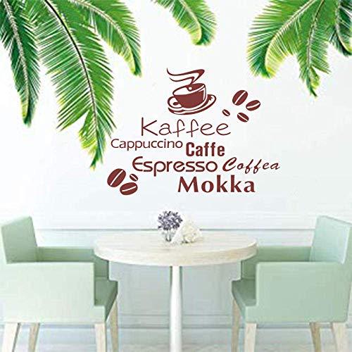Deutsch Englisch Italienisch Kaffeebohne Mokka Vinyl Wandaufkleber Wandbild Coffee Shop Wandtattoo Artist Residence Dekoration 46 * 57 Cm