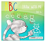 MD CREATIVE ABC Draw With Me Wipe Clean Alphabet Flash Cards Great Birthday Gift Present For Girls Boys Age 3 4 5 6 7 Years Old