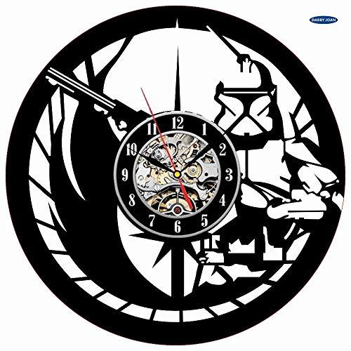 UIOLK Reloj Creativo de Moda CD Reloj de Pared con Disco de Vinilo Tema de película Decoración del hogar Reloj de Pared Colgante 3D Decoración del hogar