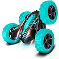 FREE TO FLY Remote Control Drift High Speed Off Road Stunt Car with 2 Rechargeable Batteries, 4WD System (Cyan)