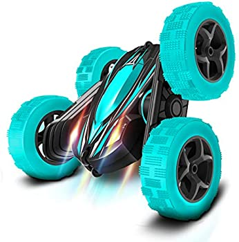 RC Drift High Speed Off Road Stunt Car with 2 Rechargeable Batteries (Cyan)