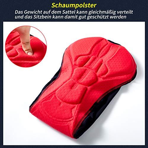 XGC Herren Radunterhose Radsportshorts Fahrradhosen mit elastische atmungsaktive 3D Gel Sitzpolster mit Einer hohen Dichte (Blue, L) - 6