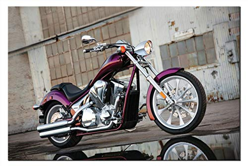 Leinwand-Bild Honda VT 1300 CX Fury Chopper Motorrad Motorräder Wandbild Bilder Kunstdruck Dekoration