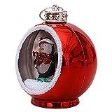 Bola de árbol de Navidad, bolas de árbol de Navidad, bolas colgantes de cristal con luces LED blancas cálidas, para decoración de festivales