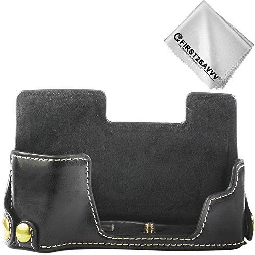First2savvv schwarz Gehäusehälfte präzise Passform PU-Leder Kameratasche Fall Tasche Cover für Fujifilm X-E3 XE3 - XJPT-XE3-D01G11