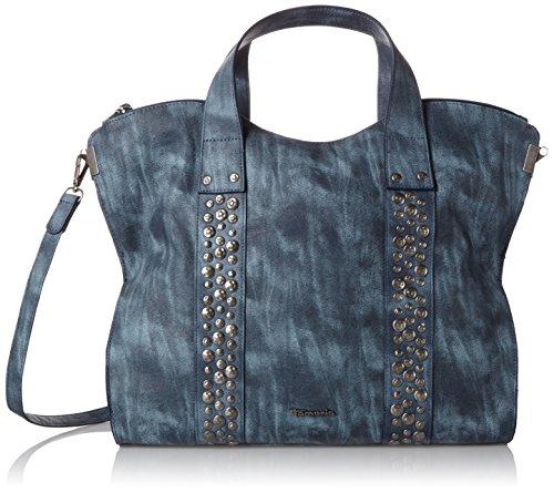 Tamaris Damen Ursula Shopping Bag Schultertasche Blau (denim)