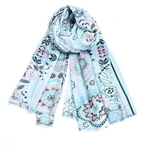 H/A CRCOG Pantalla de algodón de Flores de otoño e Invierno Mantón de Protector Solar, Toalla de Playa Toalla de Seda Femenina CRCOG (Color : True Color, Size : 180CM)