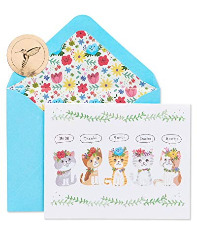 Papyrus Thank You Cards with Envelopes, Kittens (20-Count)