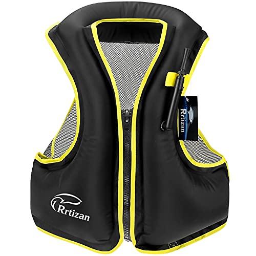 Rrtizan Snorkel Vest - Inflatable Swim Vest for Adults - Swimming Life...