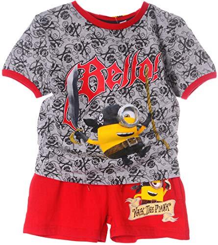 Shortama Kinder Shorty Minions Shorts Anzug Zweiteiler T-Shirt Shorts (3J - 98)