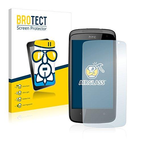 BROTECT Panzerglas Schutzfolie kompatibel mit HTC Desire 500 - AirGlass, 9H Festigkeit, Anti-Fingerprint, HD-Clear