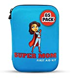 Super Mom First Aid Kit, 85 Piece Set, Compact and Portable for Home, Camping, Vehicle, Emergency or Travel Safety, Treat Cuts, Scrapes, Burns and Small Injuries