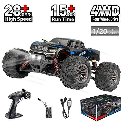 Hosim RC Monstertruck 1:20, Ferngesteuertes Buggy LKW, Geländewagen 4WD Für Erwachsen Und Kinder (Blau) Modellnummer: 9145