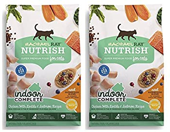 Nutrish Rachael Ray Indoor Complete Natural Dry Cat Food Chicken with Lentils & Salmon Recipe 3 lbs  Pack of 2