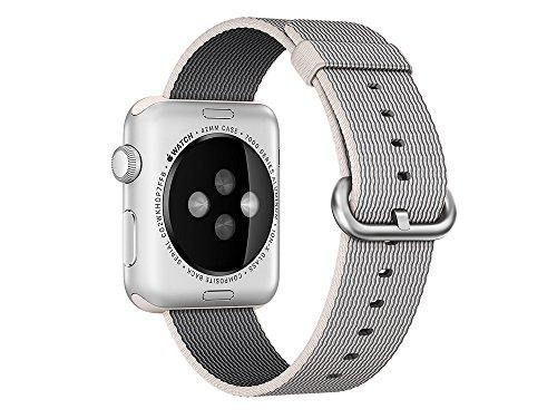 Apple Cinturino in Nylon Intrecciato Perla (42 mm)