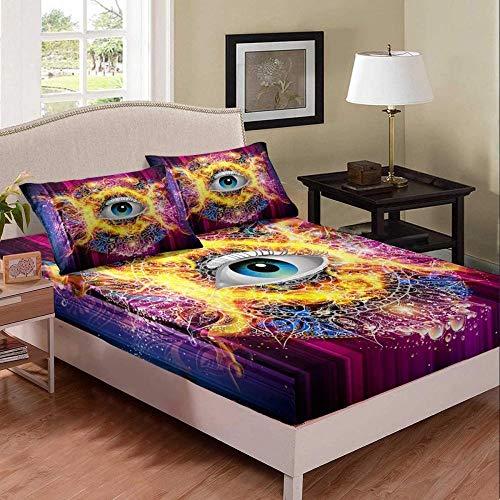 Extra Deep Fitted Sheets,Kids Unicorn Bedding Set Cute Cartoon Panda Bed Sheet Set for Girls Child Ice Cream Lollipop Pandacorn Duvet Cover-10_150 * 210