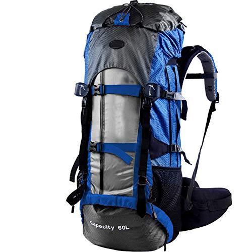 WMC Randonnée Sac à Dos, imperméable et Professionnelle résistant à l'humidité en Nylon Mountaineering Sac d'escalade extérieur Camping Randonnée Sac à Dos 60L,B