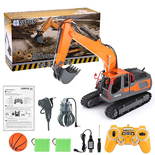 VATOS RC Excavator 17 Channel Construction Vehicle 1:16...