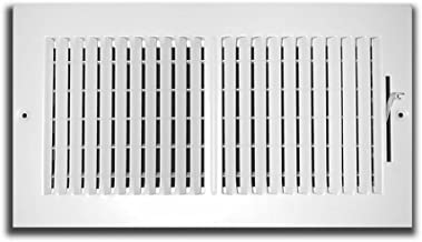 Truaire 102M 10X06 2-Way Supply 10-Inch x 6-Inch Sidewall or Ceiling Register Grille, White