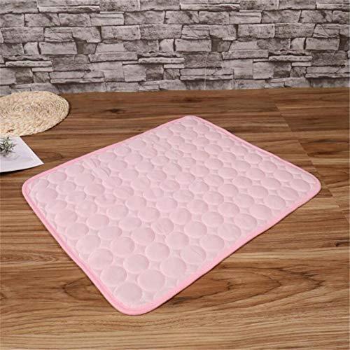 GLJYG Alfombrilla de refrigeración para mascotas, de nailon, suave, para dormir, antideslizante, ideal para perros y gatos en verano caluroso, color rosa