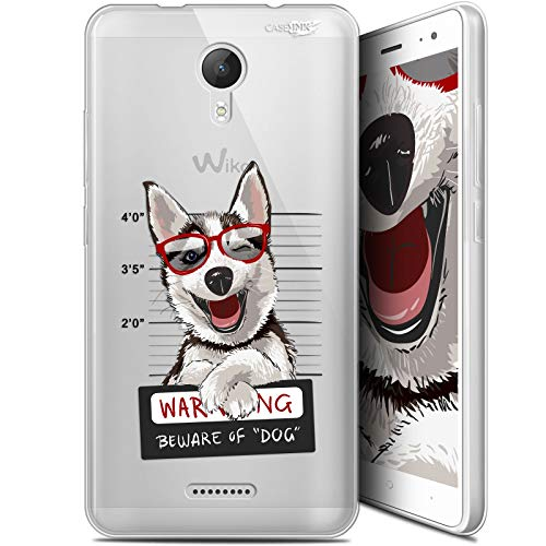 Funda para Wiko Jerry 2, Ultrafina, diseño de Beware The Husky Dog