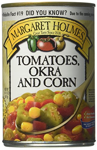 Food Margaret Holmes Canned Tomatoes Okra and Corn