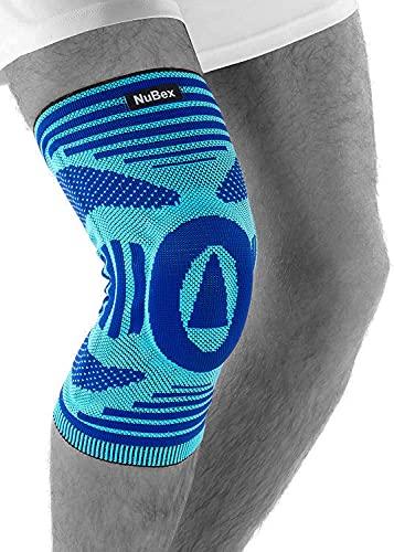 Kniebandage | NuBex Premium Train N4 | Mit Patellapad & seitlichen Spiralstangen | Für Damen und Herren | Medizinische Knieorthese