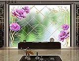qfazo carta da parati personalizzata murale fiore viola carta da parati tv sfondo divano 3 d foto carta da parati carta da parati, 250x175 cm (98,4 per 68,9 pollici)