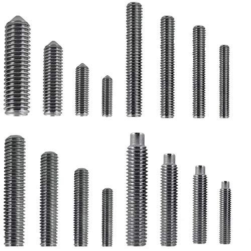 Madenschroeven schroefdraadpennen wormschroeven schroeven schroeven voor deurklinken DIN 913 DIN 914 DIN 915 DIN 916 borgstift schroefdraadstaaf kegelkoppeling roestvrij staal V2A 10 stuks () DIN 915 M 6 X 20 Schroefdraadpen M. pinnen