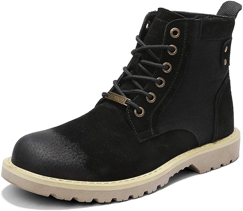 JUJIANFU-shoes 2018 New Men's Fashion Ankle Boots Casual Fashion Dress Personality Chelsea Martin Boots