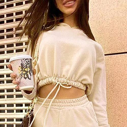 ShSnnwrl Moda Sudaderas Jersey Sweater Sudaderas con Capucha Sólidas Y Cálidas Informales, Sudaderas con Capucha De Manga Larga para Mujer, Otoño Invierno, Camisetas Sueltas para Mujer, M 8056A-Khaki