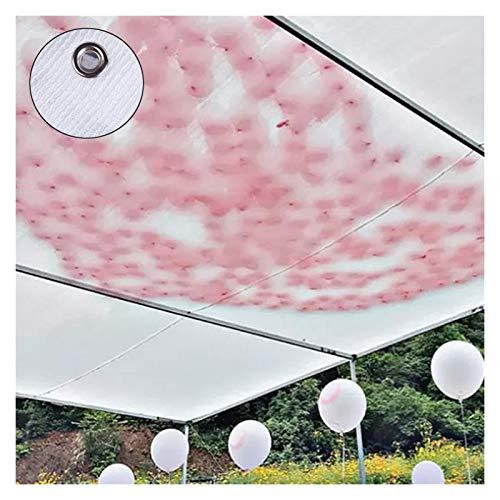 LSSB Tela de Sombra HDPE Anti-UV Blanco Sombrilla Net balcón Bonsai Suculento Coche Cubierta Coche Sunscreen Sombrilla Sombrilla Red (Color : White, Size : 2x4cm)