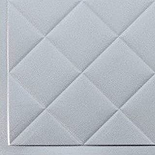 Mini Quilted Backsplash Tiles Kitchen Bathroom Shower Decorative Wall Paneling, Argent Silver, 6''x6'', Sample