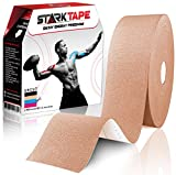 Starktape Kinesiology Tape Physio Medical Sports Tapes for Sensitive Skin Kinetic Taping. K Tex Gold Physical Therapy, Knee, Shoulder, Ankle, Wrist, Foot, Back Injury Muscle Pain aid, Roll Beige