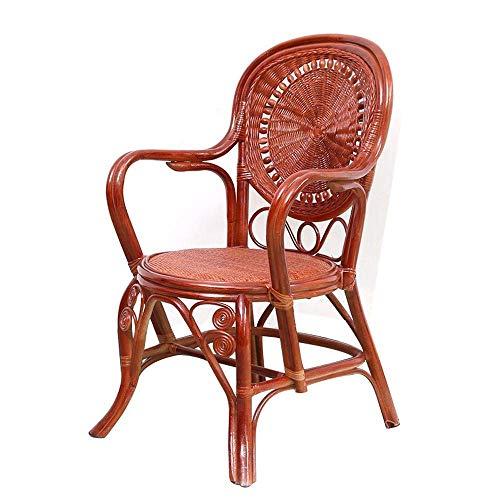 NBVCX Decoración de Muebles Muebles de ratán Silla de ratán Restaurante Muebles de bambú y ratán Asiento Ocio Silla de Mimbre al Aire Libre