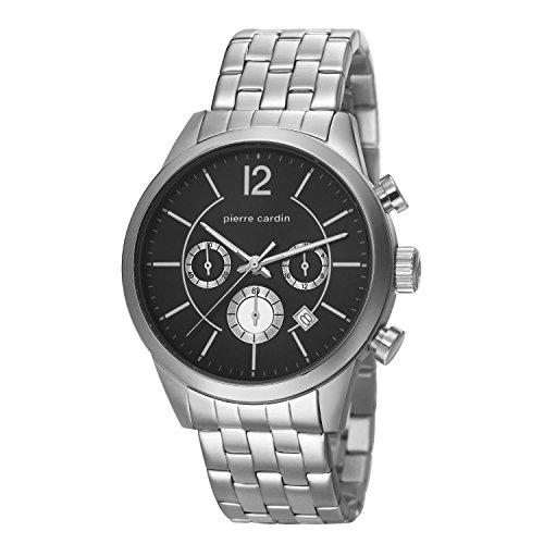 Pierre Cardin Herren-Armbanduhr Troca Chronograph Quarz Edelstahl PC106591F08