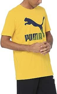 PUMA Men's Classics Logo Tee Sulphur, (Yellow 20), Large