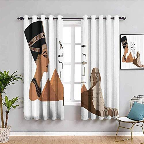 LucaSng Cortinas de Opacas - Abstracto marrón Gente Estatua - 234x183 cm - para Sala Cuarto Comedor Salon Cocina Habitación - 3D Impresión Digital con Ojales Aislamiento Térmico Cortinas