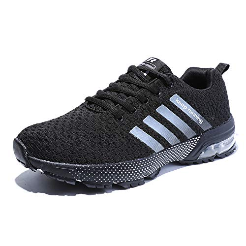 YUL dames heren casual sport loopschoenen Air Trainers Fitness Shock Absorbing Gym Athletic Sneaker - - 41 EU