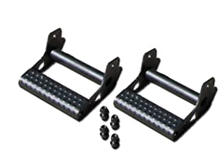 N-FAB JPTS32 Textured Black RKR Rails; Detachable Step RKR/RockRailDetachableStep-Pair