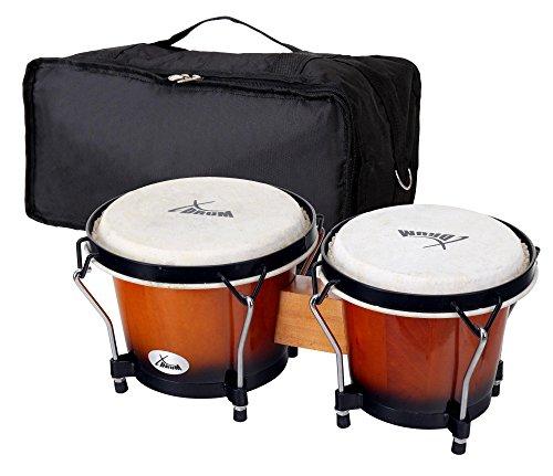 XDrum Bongo Club Standard Sunburst SET incl. housse pour bongo