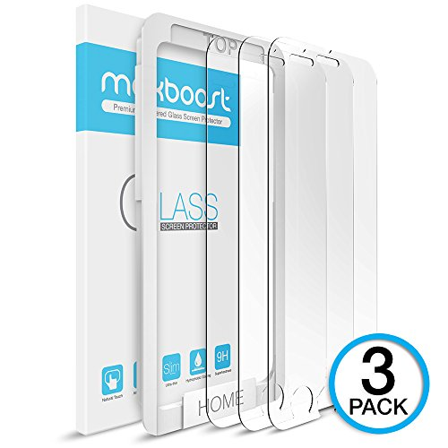 Maxboost iPhone 6 Screen Protector, [3 Pack ] iPhone 6 Tempered Glass Screen Protectors 0.2mm Ballistic Glass for Apple iPhone 6 4.7 inch ONLY and Work with Most Protective Case