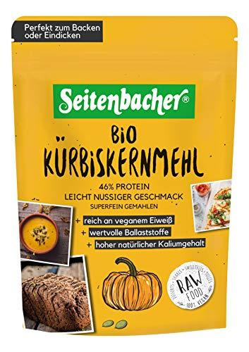 Seitbacher Organic Pumpkin Seed Flour Vegan Rich in Protein and Fibre Gluten Free Lactose Free Ground Omega Fatty Acids 330 g