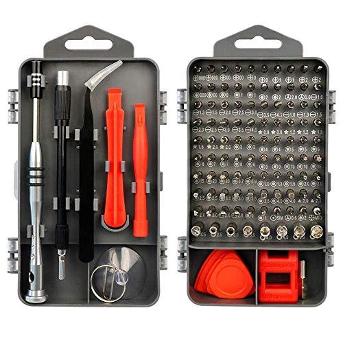 Juego de Destornilladores de Precisión - FAGORY 115 en 1 Destornilladores de Precisión Kit de Reparación Herramientas Profesional para Arreglar Teléfono Celular, Laptops, Gafas, Reloj, TV, Cámara