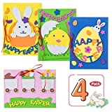Easter Theme Greeting Cards Making Kit Cute Cartoon Invitation Card DIY Blessing Cards Handmade Material...