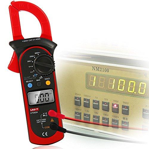 XCSOURCE UNI-T UT202A LCD Digital Multimeter Handheld Clamp Meter Resistance Frequency Tester AC DC Ohm BI151