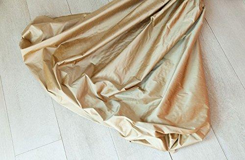 MAGZERO1 Tessuto a metraggio 100% Seta Bronzo già (col.8)